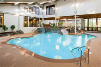 The indoor pool at the Summit Resort