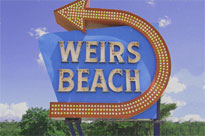 The Weirs Beach Sign