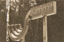 The original entrance sign to The Summit Resort