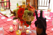 A table setting for a wedding